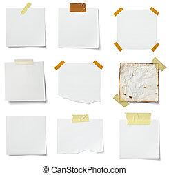 papper, etikett, meddelande, affär, anteckna