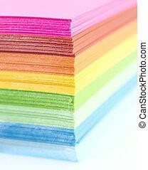 papper, färgglatt