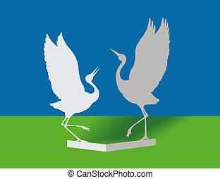 papper, fåglar