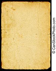 papper, gammal, strukturerad