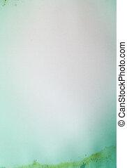 papper, grön