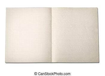 papper, grunge, ridit ut, anteckningsbok