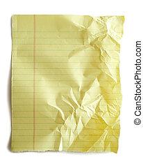 papper, gul, anteckningsbok