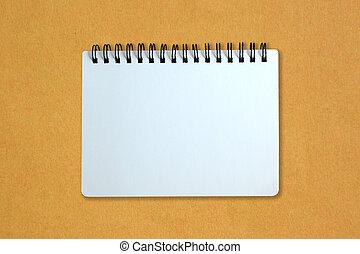 papper, gul, anteckningsbok, papp