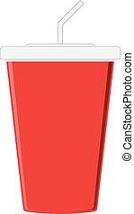papper, röd kopp