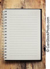 papper, sida, anteckningsbok