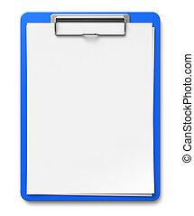 papper, skrivplatta, ark, tom