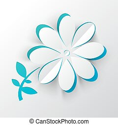 papper, snitt, vektor, blomma