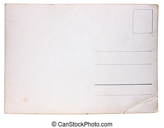 papper, struktur, gammal, årgång, vykort, från, scuffs, och,...