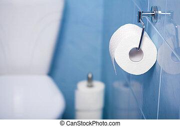 papper, toalett
