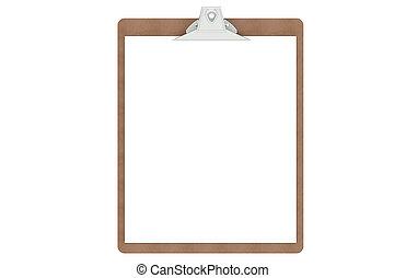 papper, tom, skrivplatta