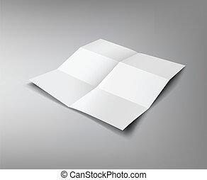 papper, veck, sex, hoplagd, affär