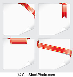 papper, vit, sätta, remsor, ark