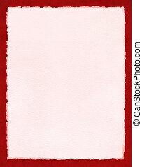 pappers- rosa färg, på, röd