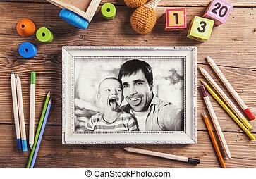 pappor dag, komposition