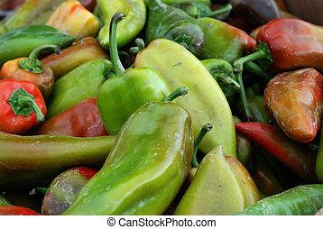 paprica, vendita, in, uno, coltivatori introducono mercato