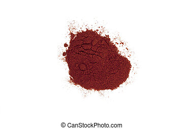 Paprika - a little of red paprika powder isolated in white