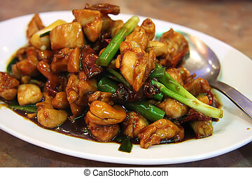 Paprika chicken with peppers traditional chinese cuisine