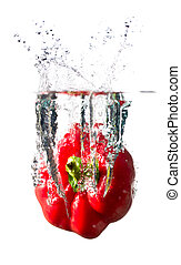 paprika in water