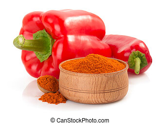 paprika powder isolated on white - paprika powder isolated...