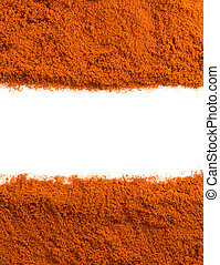 paprika powder on white - paprika powder isolated on white ...