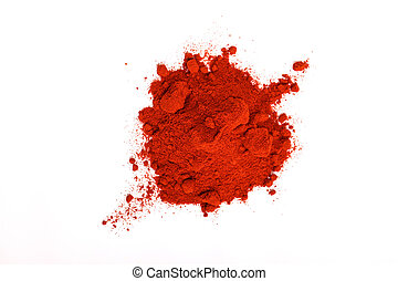 Paprika powder - Pile of red paprika powder