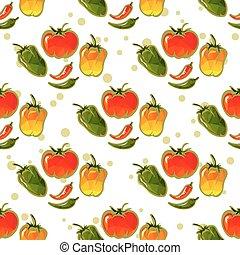 paprika seamless pattern