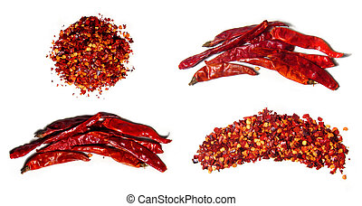 paprika - Spice theme. Red paprika. Isolated on white. From...