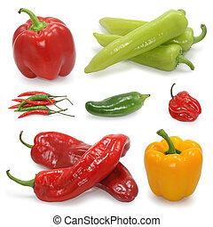 paprika, vybírání