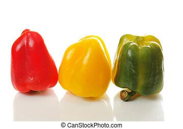 paprikas, tres, coloreado