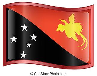 Papua New Guinea flag icon.