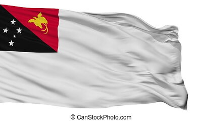 Papua New Guinea Naval Ensign Flag Isolated Seamless Loop -...