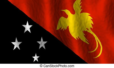 Papua New Guinea  -  Looping Flag Animated Background