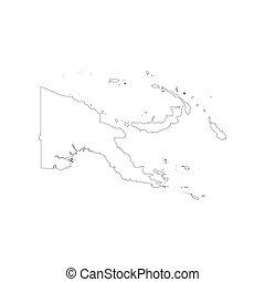 papua nuova guinea, mappa