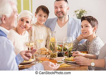 papy, famille, écoute
