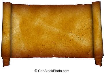 papyrus., altes , rolle