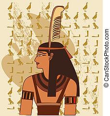 papyrus, hos, elementer, i, ægyptisk
