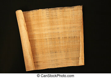papyrus - authentic roll of papyrus for writing in ancient...