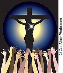 paques, christ, puissance, jésus