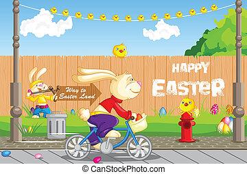 paques, cyclisme, lapin