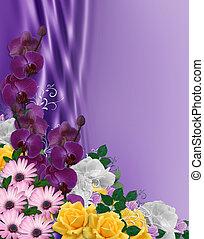 paques, fleurs, frontière