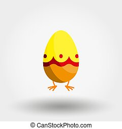 paques, icon., flat., vector., egg.
