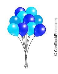 paquet, grand, ballons, anniversaires, décorations, fête