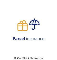 paquet, parameters, options, expédition, services, expédition, assurance