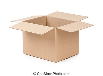 paquete, caja, abierto