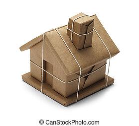 paquete, casa