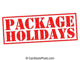 paquete, vacaciones