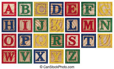 paquets alphabet bois