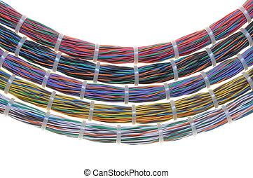 paquets, câbles, réseau