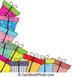 paquets, cadeau